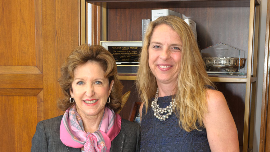 Jennifer Platt in the office of Senator Kay Hagan