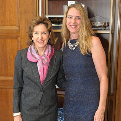 Jennifer Platt in the office of Senator Kay Hagan