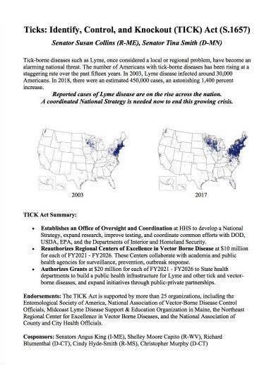 Photo of Tick Act Document