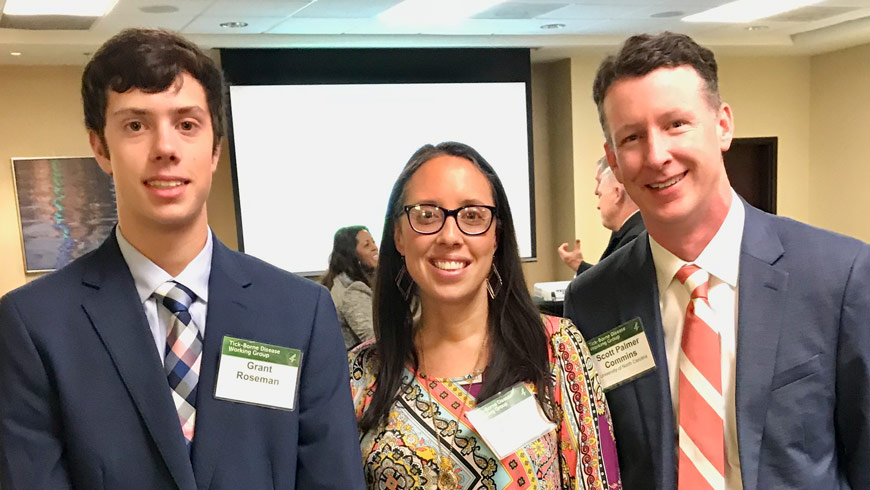 Tick-Borne Condition Advocates - Grant Roseman, Andrea Roseman, Dr Scott Commins, UNC