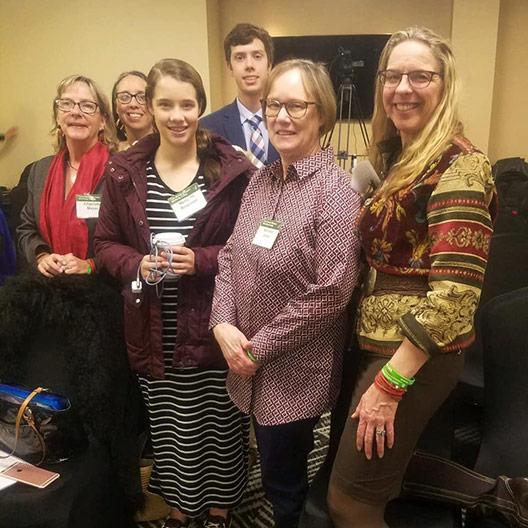 Dr. Platt with TBCU supporters Charlotte Meyer, the Roseman family, and Marlene Jones